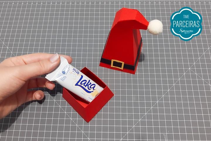 Passo 13 - Caixa de Natal Gorro Papai Noel