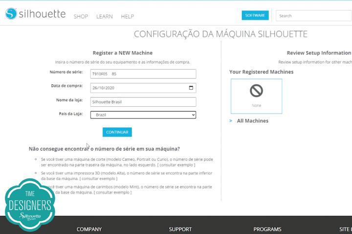 Como Registrar a Sua Máquina