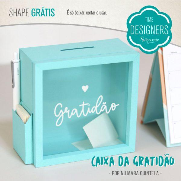 Caixinha Cofre da Gratidão - DIY com Shape Grátis