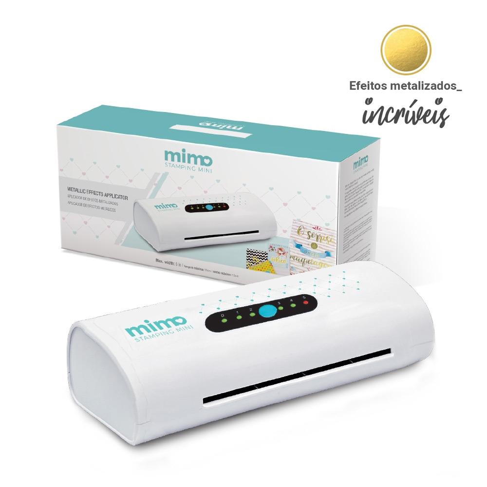 Conheça a Mimo Stamping Mini e Aplique Efeitos Metalizados