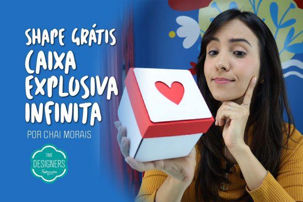 DIY Caixa Explosiva Infinita – Valentine's Day – Molde Grátis
