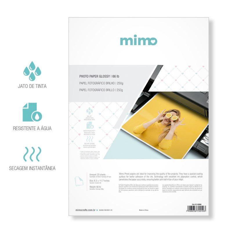 Papel Fotográfico Brilho Mimo 250gr