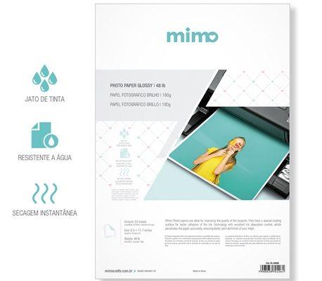 Papel Foto Gráfico Brilho Mimo 180gt