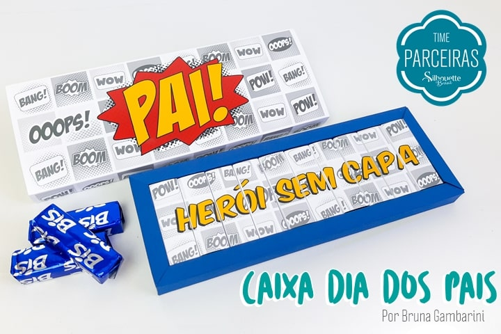 Caixa Molde Dia Dos Pais - Blog Silhouette Brasil