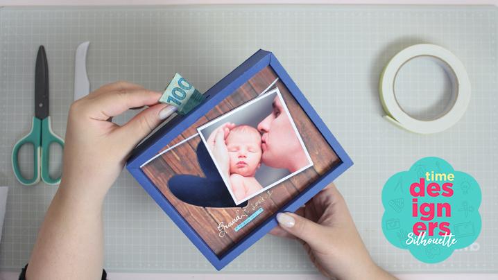 Quadro Cofre de Dia dos Pais - Home Decor + Arquivo GRÁTIS
