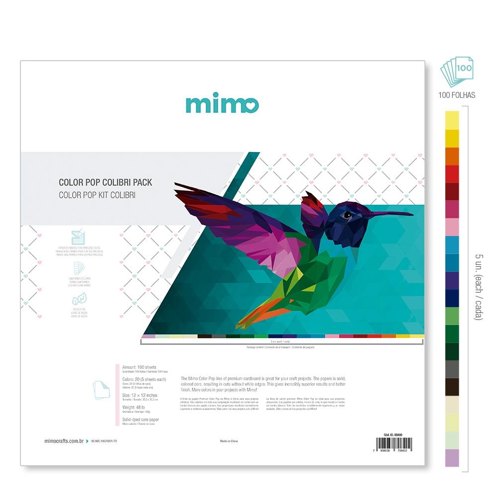 Kit Colibri - Papel Colorido Color Pop