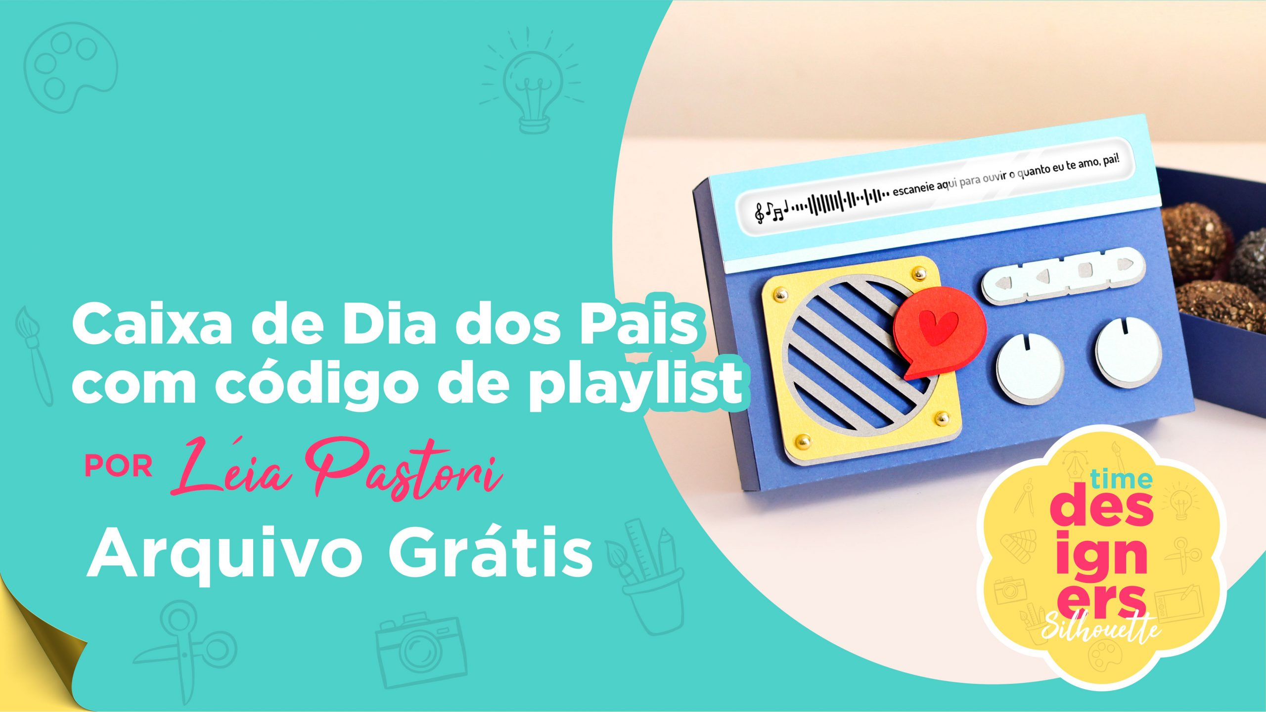 Presente Criativo Dia dos Pais com Arquivo GRÁTIS
